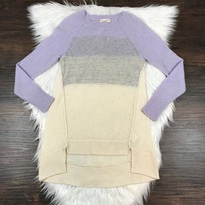 Rebecca Taylor Wool Cashmere Sweater Ombre Purple